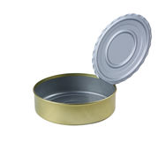 Tin. Opened tin on a white background Royalty Free Stock Photography
