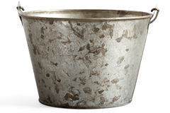 Tin pail with clipping path royalty free stock image