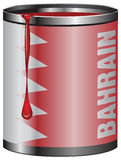 Tin with paint flag State of Bahrain Royalty Free Stock Photo