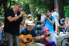 Tin Pan Blues Band. Performing in Central Park, New York Royalty Free Stock Photo