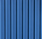 Tin Panelled Wall azul Fotografia de Stock