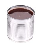 Tin with red bean. Stock Photo