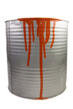Tin of a red paint. Royalty Free Stock Photos