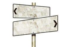 Tin Road Signs (aislado) Imagen de archivo libre de regalías