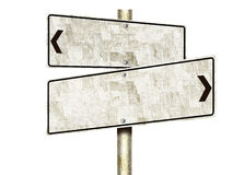 Tin Road Signs (d'isolement) Image libre de droits