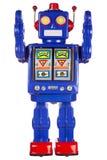 Tin robot arms raised Stock Photography