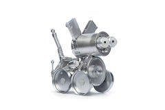 Tin robot dog Royalty Free Stock Photography