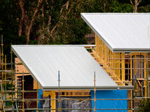 Tin roof house construction Stock Photography