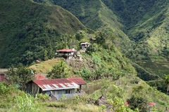 Tin roof rusted batad village philippines stock photography