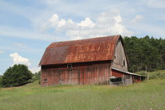 Tin roofed barn Stock Photos