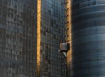 Tin Shingled Walls dos elevadores de grão de Dufur Imagem de Stock Royalty Free