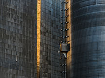 Tin Shingled Walls of the Dufur Grain Elevators Royalty Free Stock Image