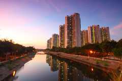 Tin Shui Wai district, Hong Kong. Royalty Free Stock Photo