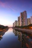 Tin Shui Wai district in Hong Kong at night Stock Images