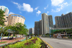 Tin Shui Wai downtown in Hong Kong at day Royalty Free Stock Photos