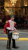 Tin soldier playing a drum royalty free stock photography