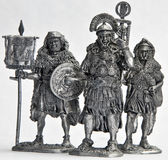 Tin Soldiers. Roman legionaries tin soldiers figurines Royalty Free Stock Photos