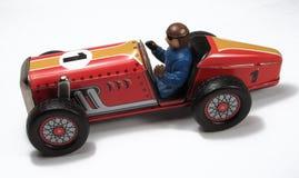 Tin-speelgoed de Raceauto van de Speedwaybaan van de Reeks â royalty-vrije stock afbeelding