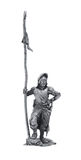 Tin statue of a medieval warrior Stock Photography