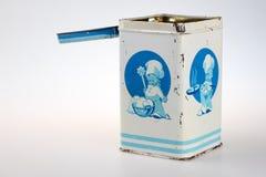 Tin sugar box Royalty Free Stock Photography