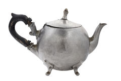 Old tin teapot. Royalty Free Stock Image