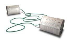 Tin Telephones Royalty Free Stock Photos