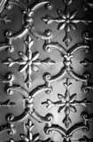 Tin tile ceiling. Detail of decorative tin tile ceiling of wall covering royalty free stock images