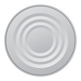 Tin. Top view. Vector drawing Royalty Free Stock Photography