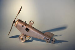 Tin toy aeroplane Royalty Free Stock Photography
