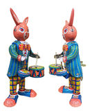 Tin Toy Bunny. Vintage winding tin toy bunny Royalty Free Stock Images