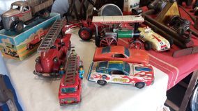 Tin Toy Cars stockfoto