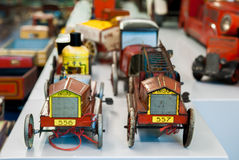 Tin toy cars Royalty Free Stock Photography