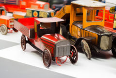 Tin toy cars Stock Images