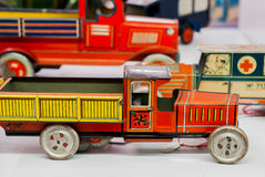 Tin toy cars Royalty Free Stock Images