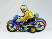 Tin Toy Motorcycle Stock Photography