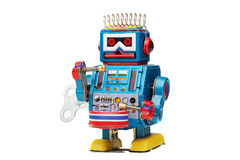 Tin toy robot drummer Stock Image