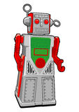 Tin Toy Robot in Vector. Vintage Tin toy robot in vector Royalty Free Stock Photo