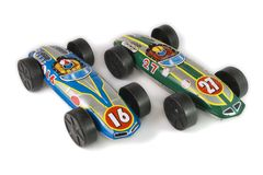 Tin toys cars Stock Photography