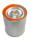 Tin van een rode verf. Stock Foto