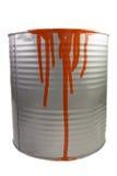 Tin van een rode verf. Royalty-vrije Stock Foto's