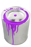 Tin of a violet paint. Royalty Free Stock Images