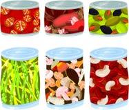 Tin voedsel Stock Afbeeldingen