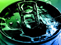 Tin water. Tin & water in various colors Stock Photography