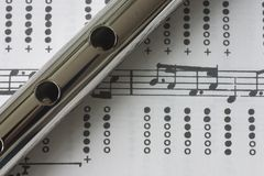 Tin whistle sheet music Royalty Free Stock Photography