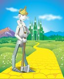 Tin Woodman. On the road of yellow bricks to the emerald city of oz Royalty Free Stock Photography