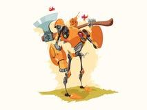 Tin Woodman Robot Vector Illustration royalty-vrije illustratie