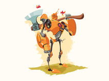 Tin Woodman Robot Vector Illustration Stock Photos