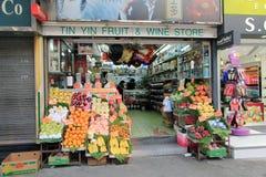 Tin yin fruit and wine store in hong kong Royalty Free Stock Photos