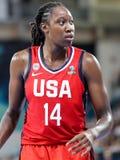 Tina Charles tijdens basketbalgelijke CHINA versus de V.S. royalty-vrije stock afbeeldingen
