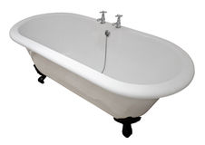 Tina de baño victoriana del top de rollo Fotografía de archivo